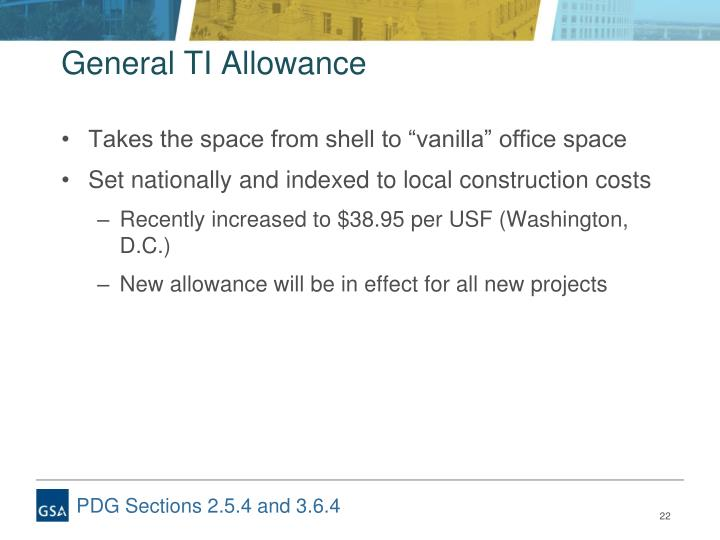 General TI Allowance