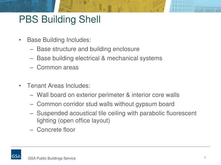 PBS Building Shell