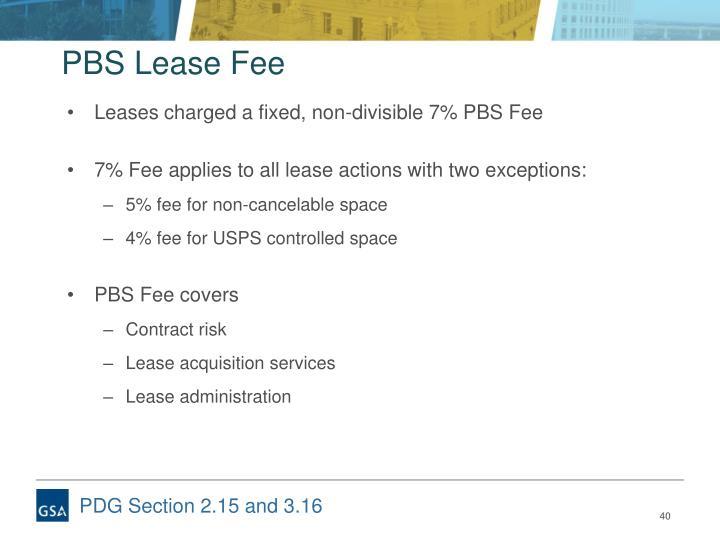 PBS Lease Fee