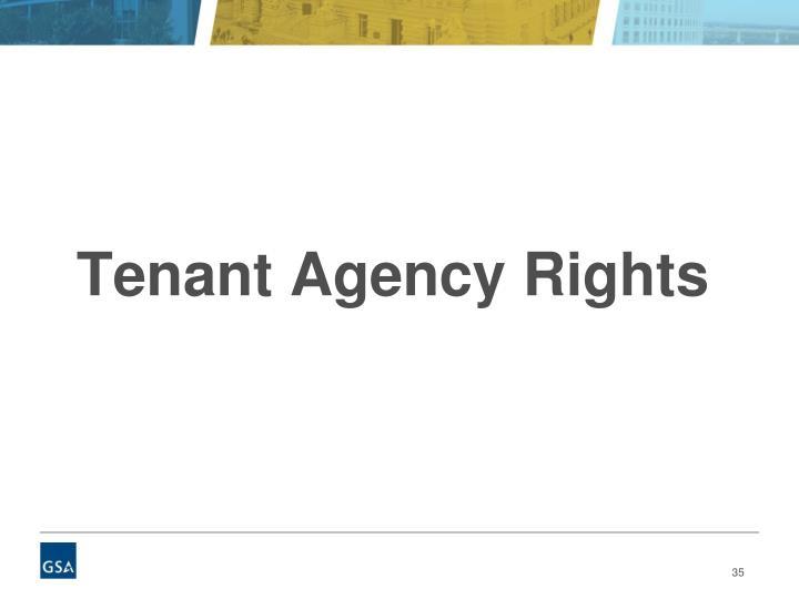 Tenant Agency Rights