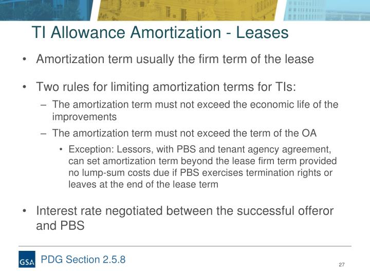 TI Allowance Amortization - Leases