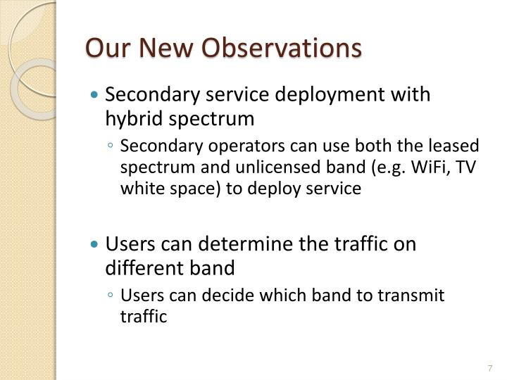 Our New Observations