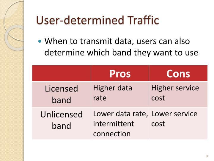 User-determined Traffic