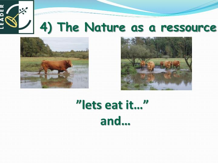 4) The Nature as a ressource