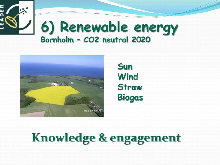 6) Renewable energy