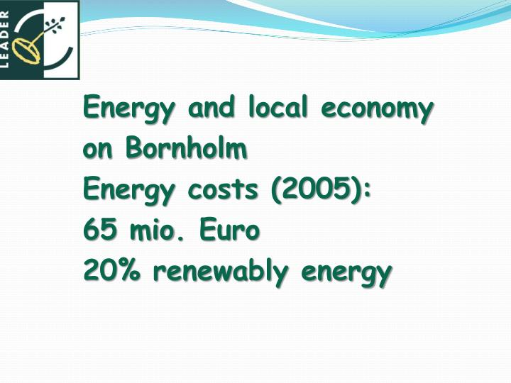 Energy and local economy