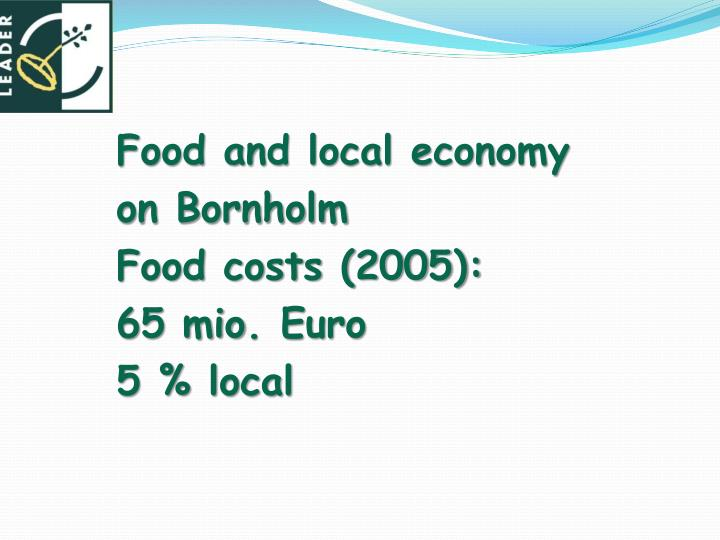 Food and local economy