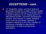 exceptions cont10
