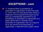 exceptions cont13