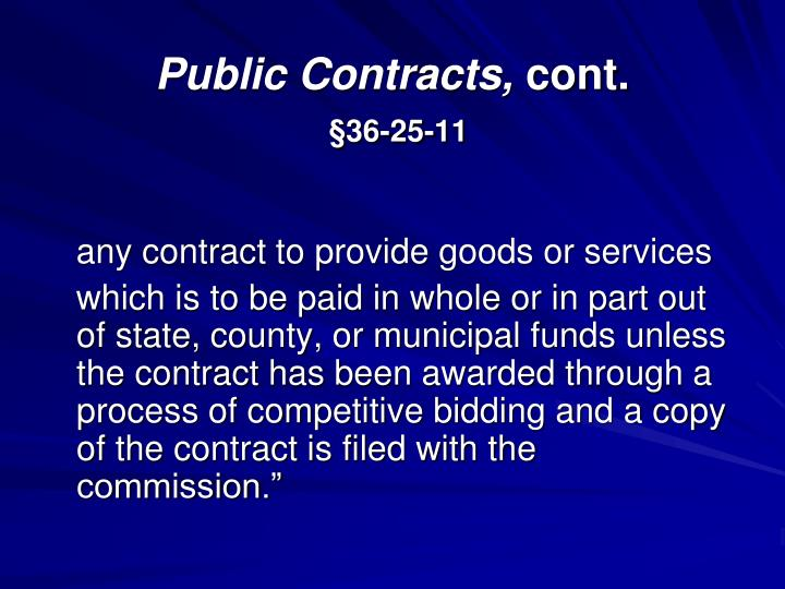Public Contracts,