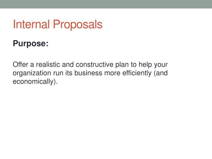 Internal Proposals