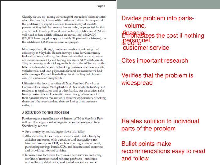 Divides problem into parts-