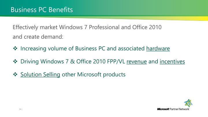 Business PC Benefits
