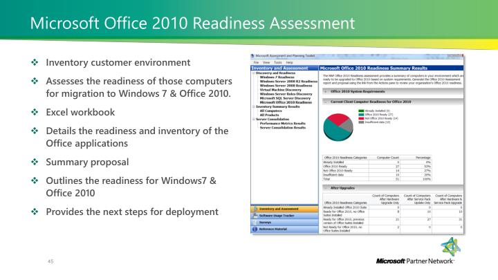 Microsoft Office 2010 Readiness Assessment