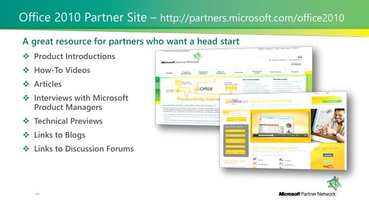 Office 2010 Partner Site –