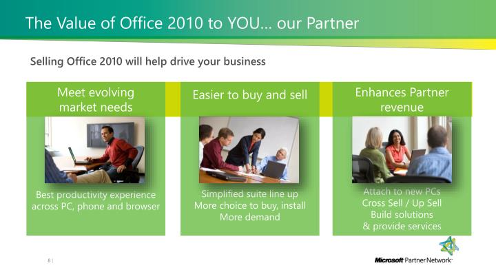 The Value of Office 2010 to YOU… our Partner