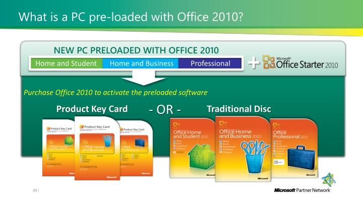 What is a PC pre-loaded with Office 2010?