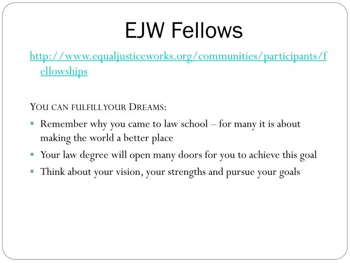 EJW Fellows