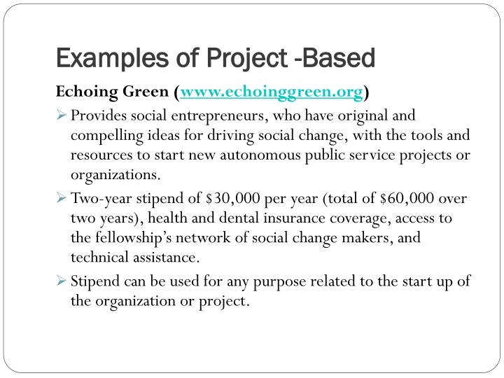 Examples of Project -Based