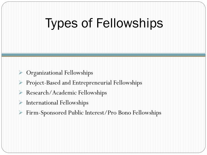Types of Fellowships