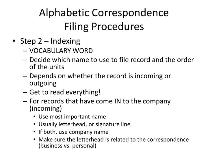 correspondence procedures Correspondence, a report, or the secretary's own remarks each document therefore must be well-written, responsive, understandable, thoughtful, and effective in.