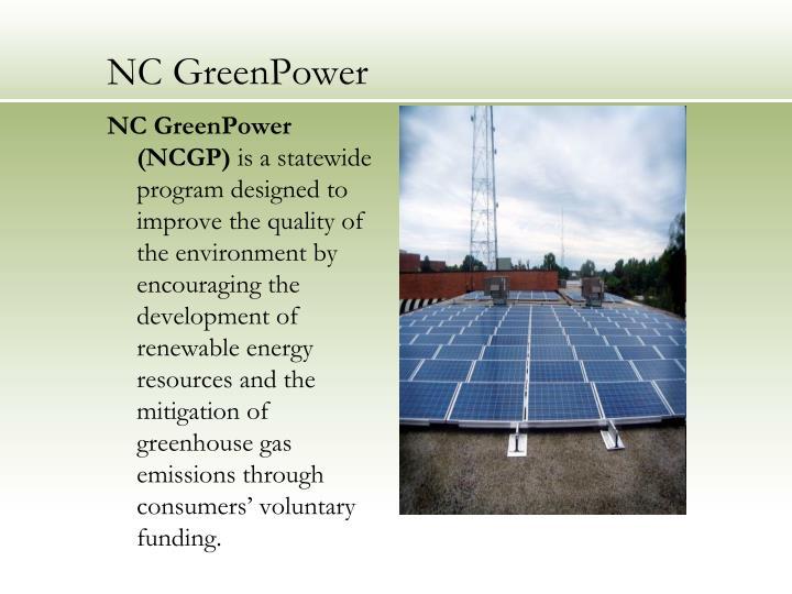 NC GreenPower (NCGP)