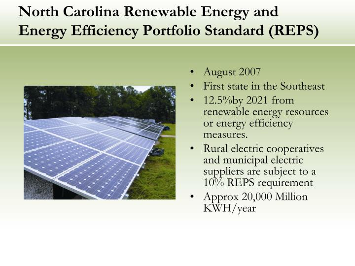 North Carolina Renewable Energy and Energy Efficiency Portfolio Standard (REPS)
