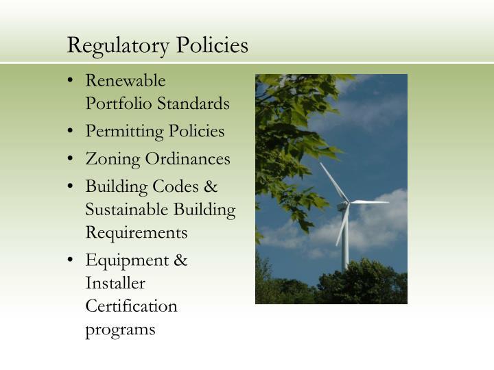 Regulatory Policies