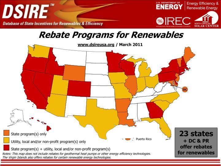Rebate Programs for