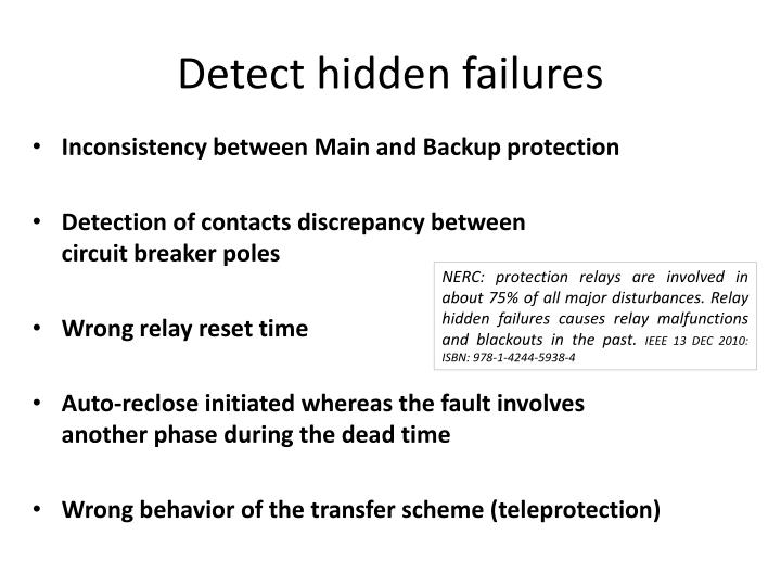 Detect hidden failures