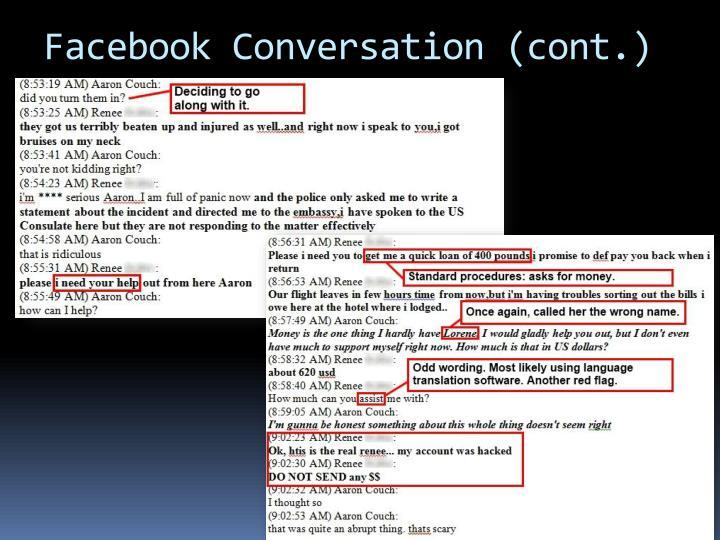 Facebook Conversation (cont.)
