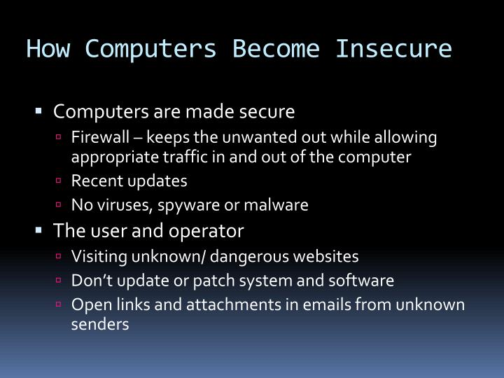 How Computers Become Insecure