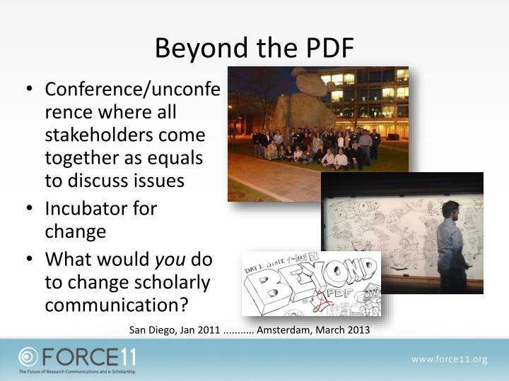 Beyond the PDF