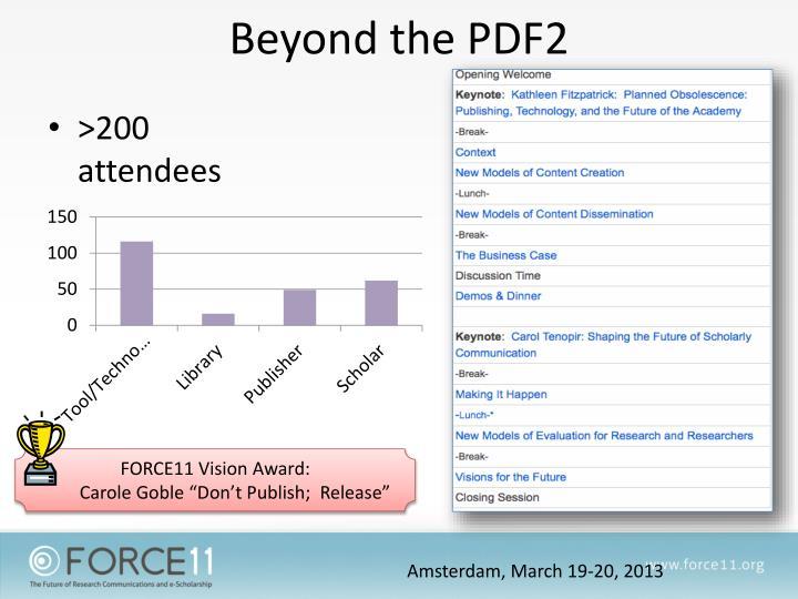 Beyond the PDF2