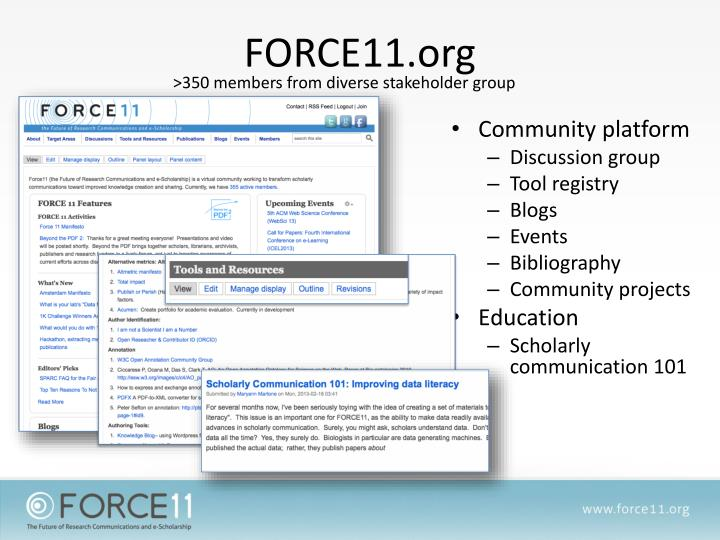 FORCE11.org