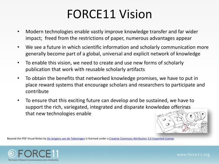 FORCE11 Vision