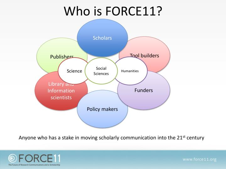 Who is FORCE11?