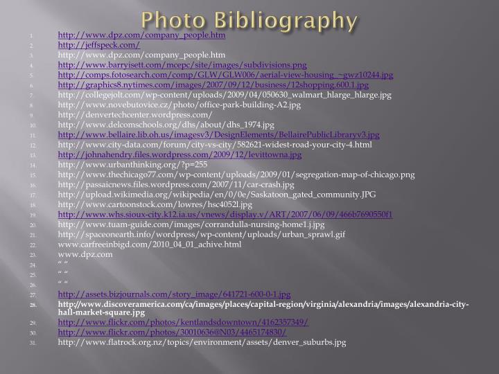 Photo Bibliography