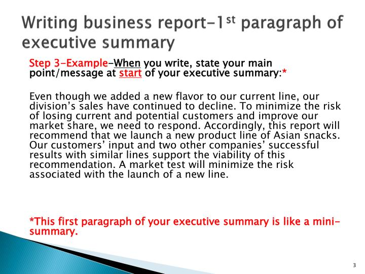 How To Write Papers About Writing A Business Report