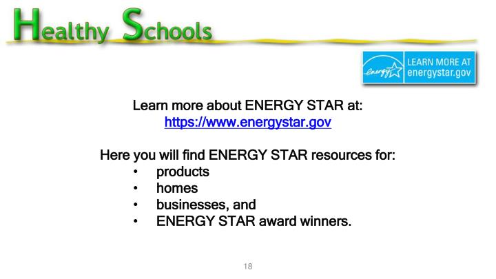 Learn more about ENERGY STAR at: