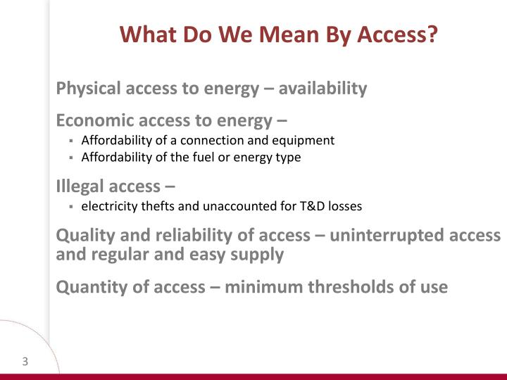 What do we mean b y access