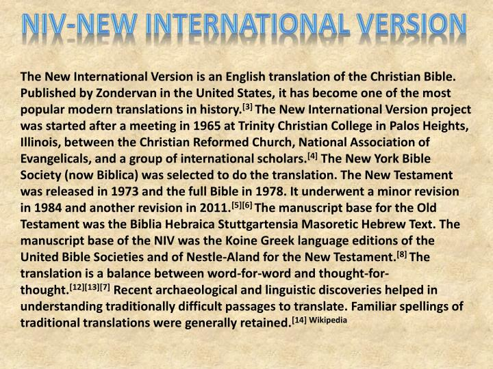 NIV-New International Version