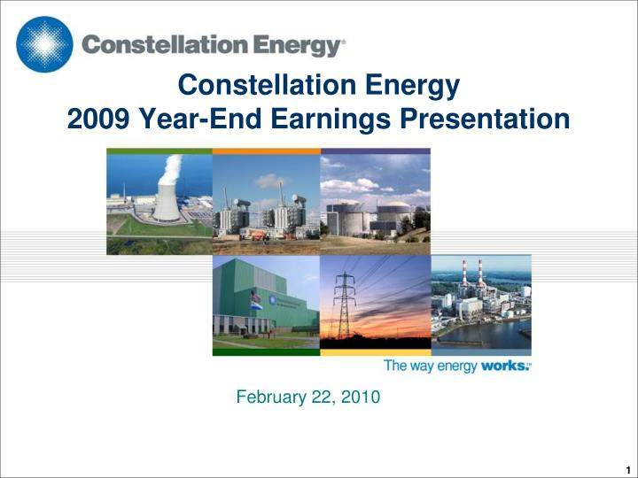 constellation energy 2009 year end earnings presentation