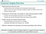 customer supply overview