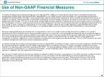 use of non gaap financial measures