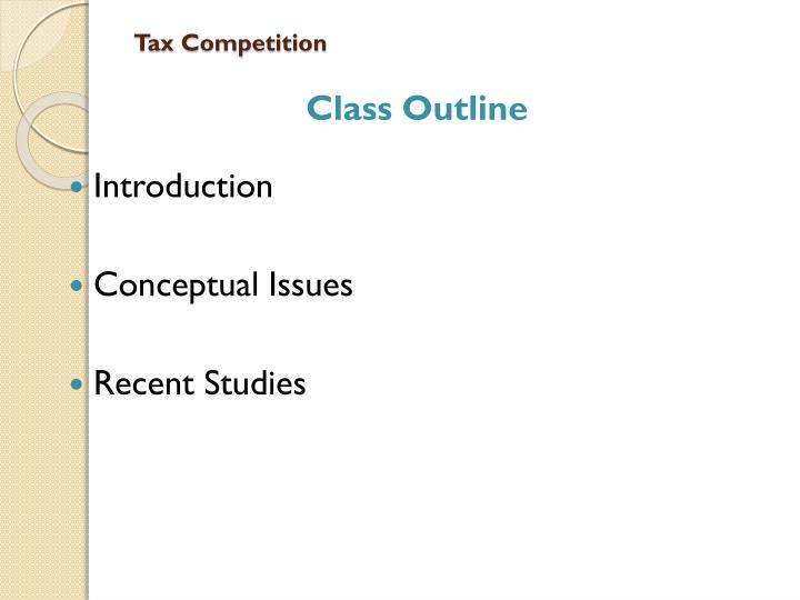 Tax competition
