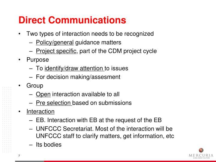 Direct Communications