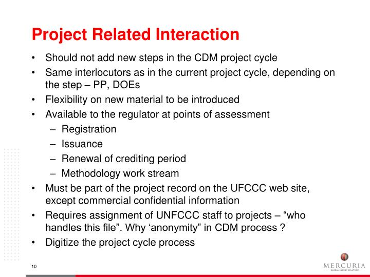 Project Related Interaction