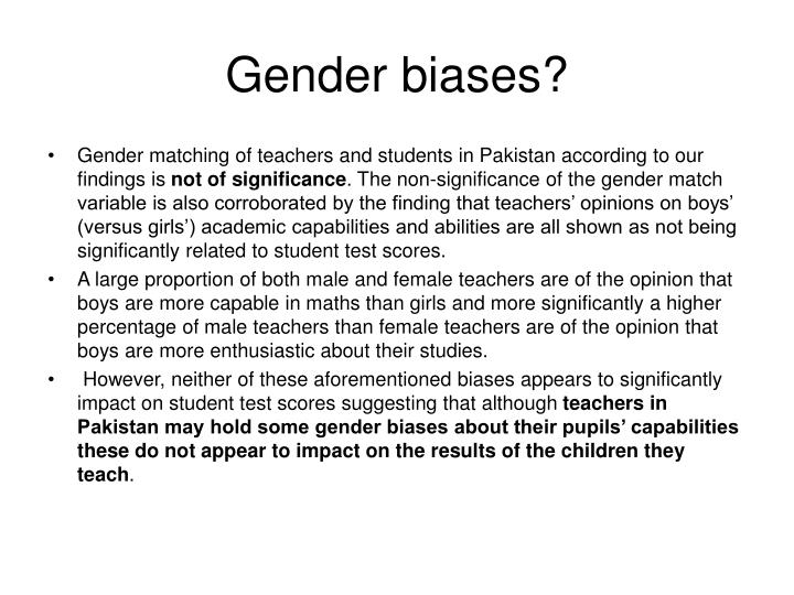 Gender biases?