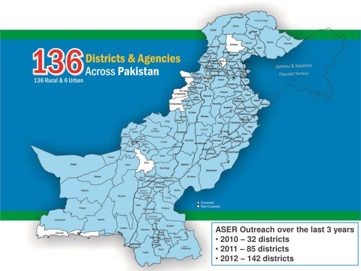 ASER Outreach over the last 3 years